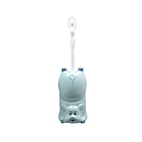 Mnjin Brosse de Toilette Portable Famille Salle de Bain Multifonction Brosse Douce en céramique Brosse de Nettoyage Plongeur de Salle de Bain Ensemble d'outils de Nettoyage de Toilettes Simple à u