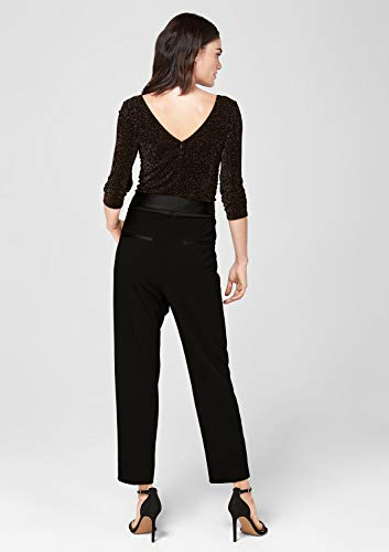 s.Oliver BLACK LABEL Damen Eleganter Jumpsuit im Farbic-Mix Black 38 - 6