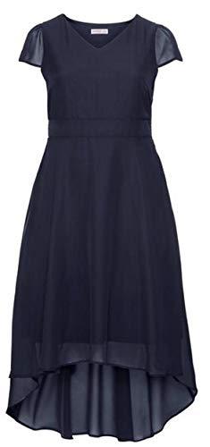 Sheego Damen Abendkleid im Vokuhila-Look Marine, 52