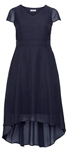 Sheego Damen Abendkleid im Vokuhila-Look Marine, 46