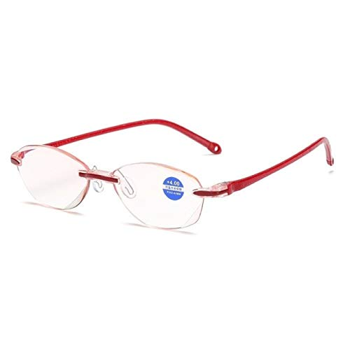 BJHSYNDR Gafas de Bloqueo de luz Azul Gafas de Lectura sin Montura ultraligeras Lentes Transparentes Unisex Anti BLU Ray Radiación Computadora Lectores de presbicia Gafas