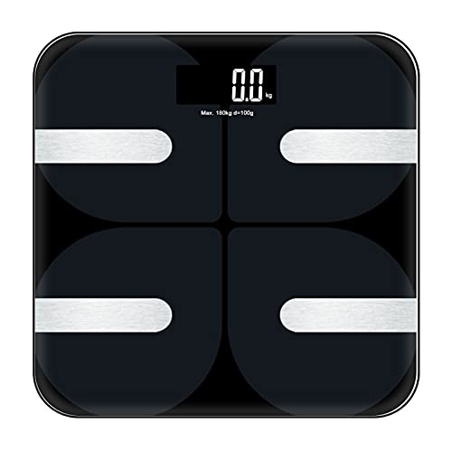 Báscula de Peso Digital de Baño Inteligente APP Escala de Grasa Corporal Inalámbrica Bluetooth Analizador de Composición Corporal Preciso Dispositivo de Medición de Grasa Corporal IMC Pérdida de Peso