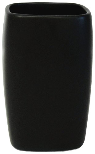 Spirella Retro Tumbler Stoneware Black 11 cm x 6.5 cm
