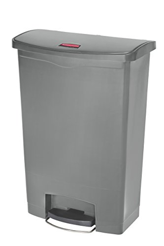 Rubbermaid Commercial Products 1883606 StepOn Cestino in Resina, Anteriore Passo, 90 L, Grigio