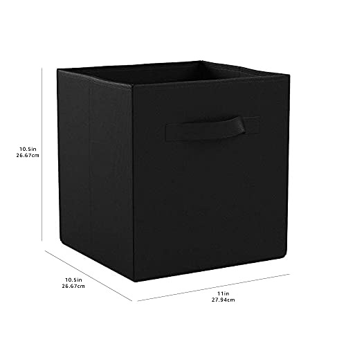 Amazon Basics Collapsible Fabric Storage Cubes Organizer with...