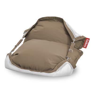 Fatboy® Original Floatzac Sandy Taupe | Sitzsack an Land & im Wasser | Schnelltrocknender & schwimmender Wasser-Sitzsack | 180 x 134 cm