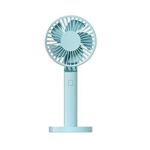 feilai Travel Supplies Mini-Ventilator mit 3 Geschwindigkeiten, tragbar, wiederaufladbar über USB, für Outdoor, Reisen, Camping, Büro (Farbe: Blau, Größe: D)