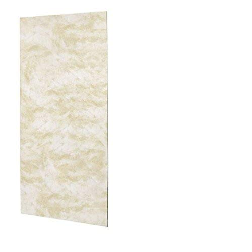 Swanstone SS-3672-1-125 Solid Surface Glue-Up 1-piece Shower Wall Panel, 0.25-in L X 36-in H X 72-in H, Cloud White