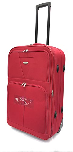 ATX Luggage Lightweight Durable Check in Suitcase Medium 26' with 2 Wheels Built-in 3 Digit Combination Lock Red (26' Medium, Red 630)
