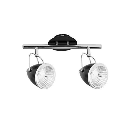 Paris Prix - Plafonnier 2 Spots Moderne Oliver 35cm Noir