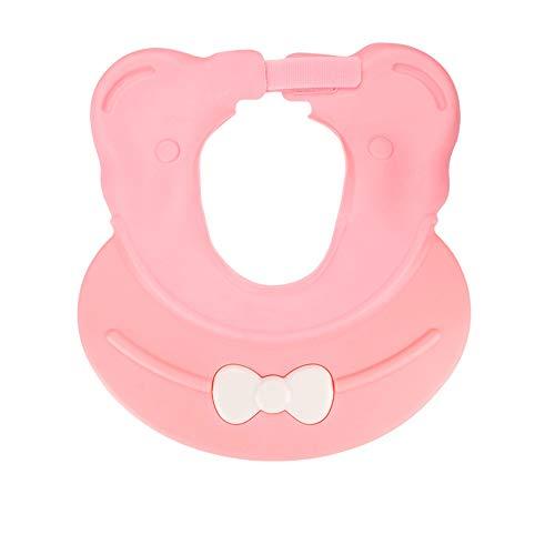 mreechan duschhaube kinder,Kinder Shampoo Schutz,Haare waschen ohne Tränen, Weiche Baby Dusch Badekappe Verstellbarer Kinder Baden Shampoo Kappe. (pink)