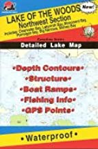 Lake of the Woods Fishing Map: Northwest. (Canadian Fishing Map Series, Q271)
