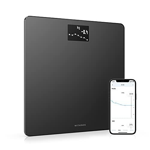 Withings Body - Balance Connectée WIFI avec Suivi du Poids et de l'IMC, Pèse-Personne Numérique avec Synchronisation à l'Application en Bluetooth ou WIFI