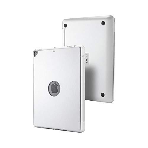 ANBF Teclado multiusos para iPad 10.2 Air 3/10.5 2019 Pro 10.5 pulgadas Touchpad Backlight Wireless Bluetooth Keyboard Case Cover + Stylus (color: plata, tamaño: iPad 10.2)
