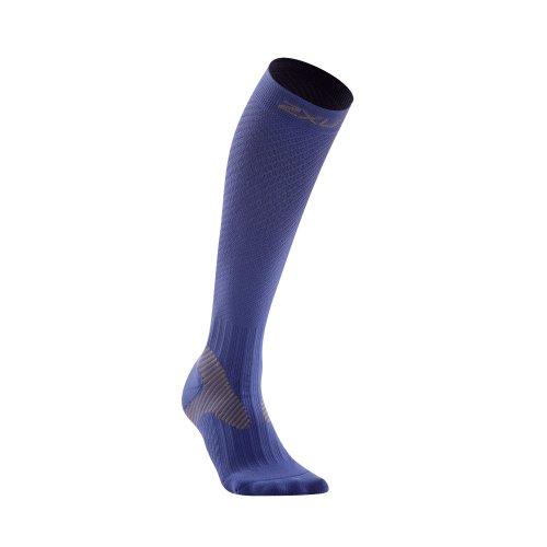 2XU Elite Kompressionssocken für Damen, Blau/Grau, Größe L