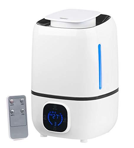 Newgen Medicals Aroma Diffusor: Ultraschall-Luftbefeuchter mit Aromafach & 360°-Vernebler, 280 ml/Std. (Luftfeuchter)