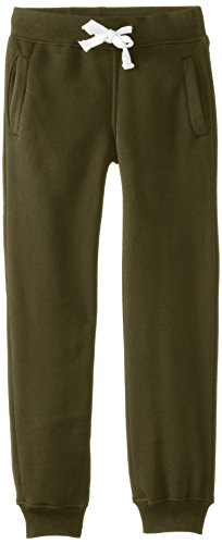Southpole Jungen Active Basic Jogger Fleece Pants Jogginghose, olivgrün, Medium