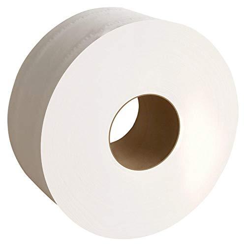 HDOUBR 1 rouleau de papier hygiénique en rouleau jumbo 3 plis bois natif papier toilette doux pâte papier à rouler maison forte absorption d'eau