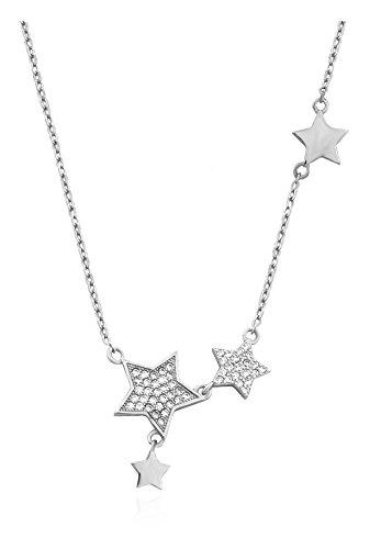 SOFIA MILANI Damen Halskette Stern Anhaenger Silber 50172