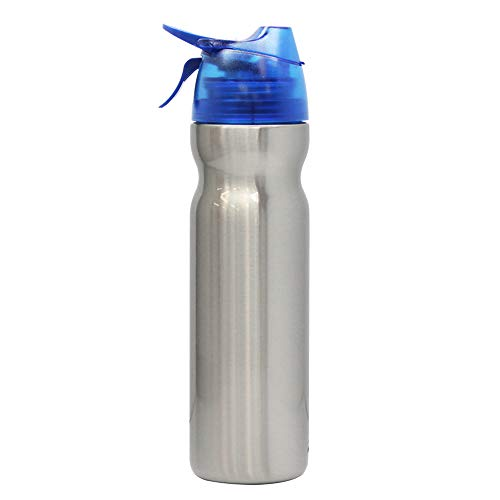 大作商事ドリンクミストSS 冷却ミスト機能付ステンレス真空断熱保冷ボトルDMSS2-BLブルーレギュラー