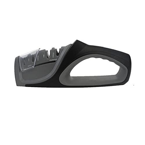 KDABJD Afilador de cuchillos, afilador de cuchillos de cocina profesional, herramienta de afilado de 4 etapas para afilar cuchillos, herramienta de afilado de cuchillos de cocina