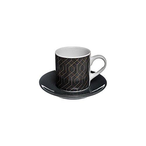 Tasse avec coupelle Modern - 9 cL - Modèle aléatoire