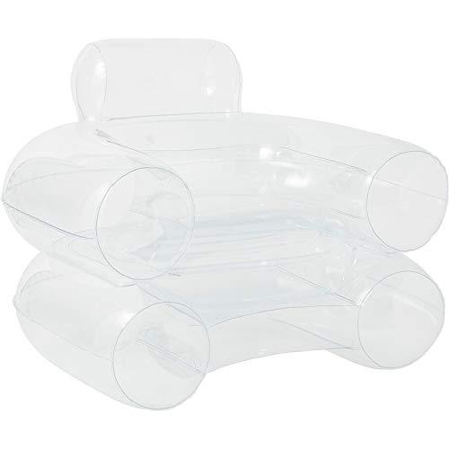 ZAIZAI Aufblasbarer Stuhl für Erwachsene, faltbares Sofa, stilvoll, weich, aufblasbar, für Zuhause, drinnen und draußen, Camping, Garten (weiß)