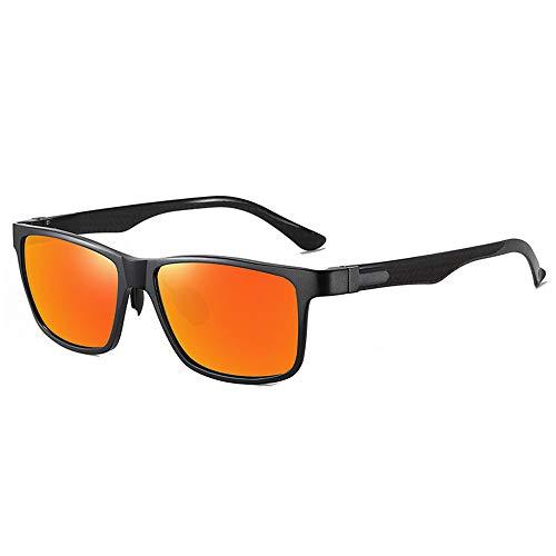 WOXING Polarisierte UV-Schutz-Sonnenbrille, blendfrei, winddicht, bunt, leicht, klassisch, modisch, Sport, Radfahren, Laufen, Angeln, Unisex, E 14,9 x 4,5 cm