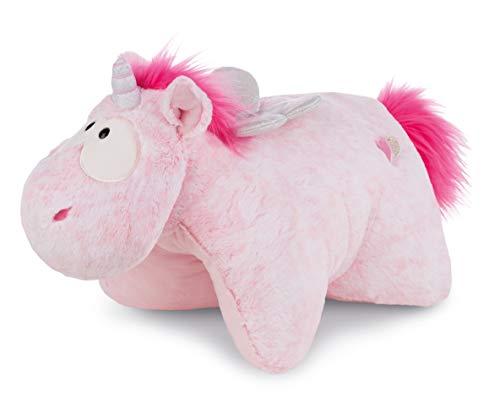 NICI 44368 Pink Kuscheltierkissen Einhorn Harmony, 40x30cm, Kuscheltier und Kissen in einem, Theodor & Friends