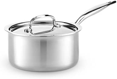 Heritage Steel 3 Quart Saucepan Titanium Strengthened 316Ti Stainless Steel with Multiclad Construction product image