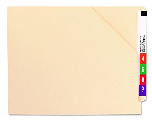 Smead End Tab File Jacket, Shelf-Master Reinforced Straight-Cut Tab, Letter Size, Manila, 100 per Box (75700)