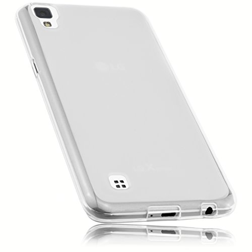 mumbi Funda Compatible con LG X Power Caja del teléfono móvil, Blanco Transparente