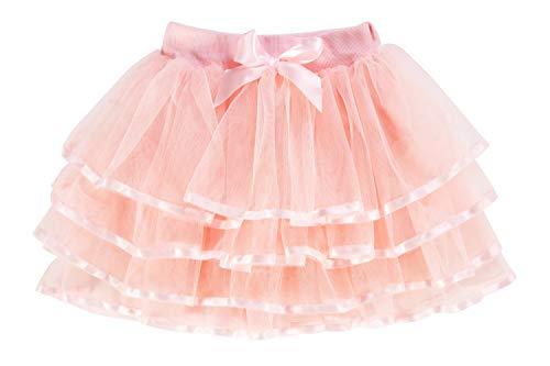 storeofbaby - Falda de tul estilo tutú para niñas pequeñas, de 4 capas, para fiesta de disfraces, de 2 a 13 años Rosa Beige melocotón 8- 11 Años