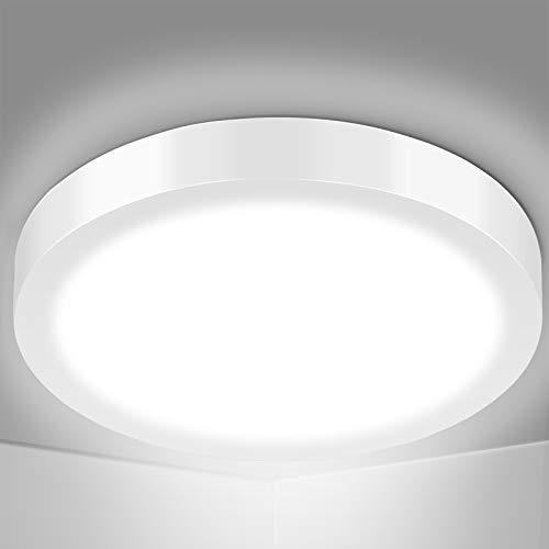 OUSFOT Deckenlampe Led Deckenleuchte 24W 2200Lumen 6000K Weiß Ø300mm Küchenlampe Wohnzimmerlampe Bürolampe
