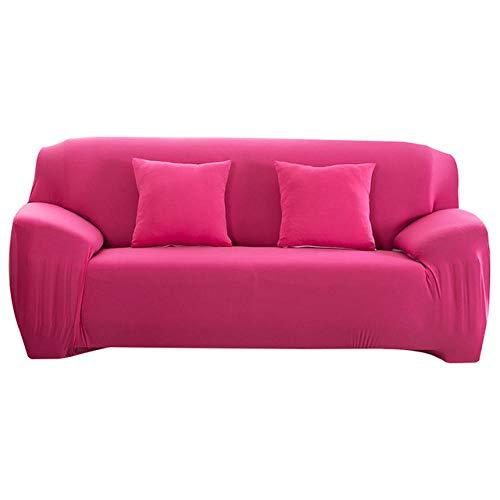 Copridivano Elasticizzato,Sofa Mobili Protettore Copertura Divano Antiscivolo,Fodere Copridivani Universale,Ideale per poltrone,divani,2 Posti,rosa rossa