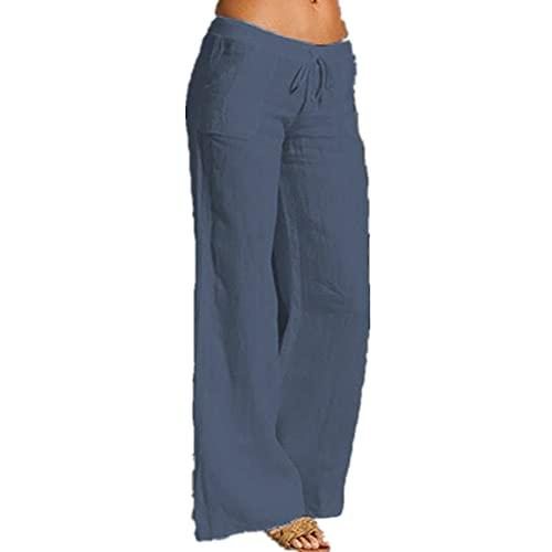 N\P Pantalones para hombre Pantalones Hombres Blanco Jogger Cintura Recta Hombres