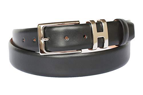 Handmacher Ledergürtel für Damen in Schwarz, Kalbsleder, Länge 110 cm