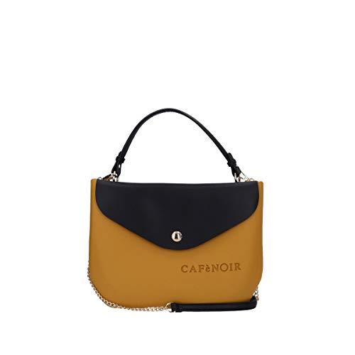 CafèNoir Borsa Donna con Interno Staccabile ad Uso Pochette, BAJ101 (Senape)
