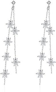 NEVI Flower AAA Zirconia Earrings For Girls Women Fancy Hangings
