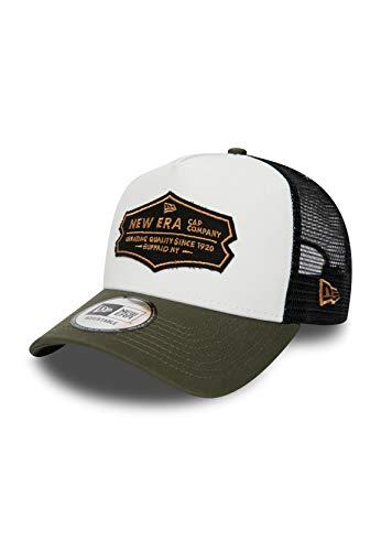 New Era NE Distressed Trucker Adjustable Cap NE Distressed Patch Schwarz Weiß, Size:ONE Size