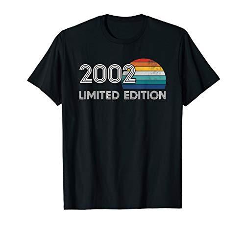 T-Shirt zum 18. Geburtstag - 18 Jahre Vintage 2002 Geschenk T-Shirt