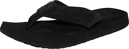 Reef Women's Sandy Sandals, Black/Black, 5
