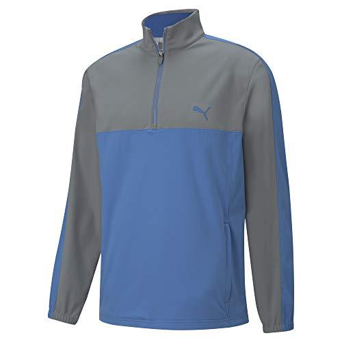 Puma Golf Men's Riverwalk Wind Jacket, Quiet Shade-Star Sapphire, Medium