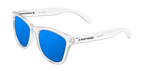 Northweek Regular Seabright - Gafas de Sol para Hombre y Mujer, Polarizadas, Translúcido/Azul
