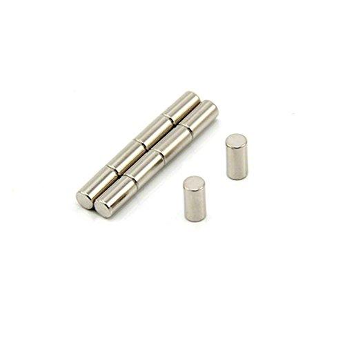 Magnetastico® | 10 Stück Neodym Magnete N52 Stab 4x10 mm | Kühlschrankmagnet Pinnwandmagnet Dauermagnet Whiteboardmagnet Haftmagnet Magnetstab Stabmagnet Zylindermagnet