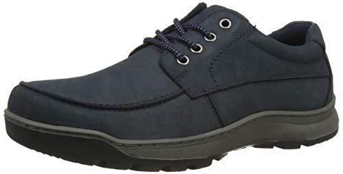 Hush Puppies Tucker, Zapatos de Cordones Derby Hombre, Azul (Navy Nubuck Navy), 43.5 EU
