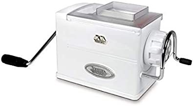 Marcato Atlas Regina Extruder Pasta Maker, Made in Italy, Chrome-Plated Steel and Shockproof Plastic, Includes 5 Dies & Instructions, White