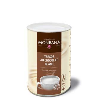 Monbana white chocolate Trinkschokolade Tresor 500g Dose