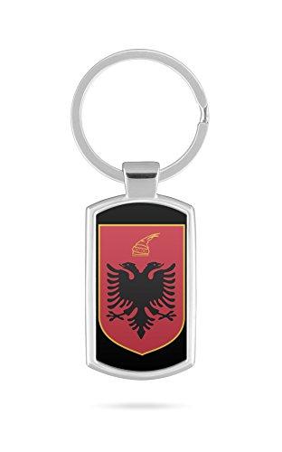 Schlüsselanhänger mit Gravur Wunschtext Name Albanien Fahne 6