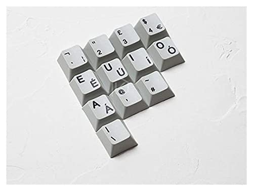 F-Mingnian-rsg Keycaps 12pcs keycaps Dye Sub Thick PBT para Teclado